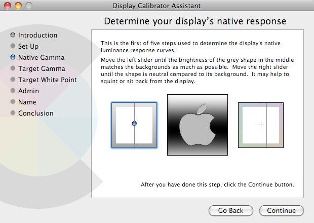Softverska kalibracija na Macintosh računalu