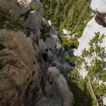 Spuštanje s vrha Bijelih Stijena